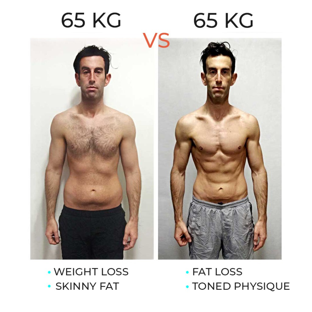 difference between weight loss vs fat loss
